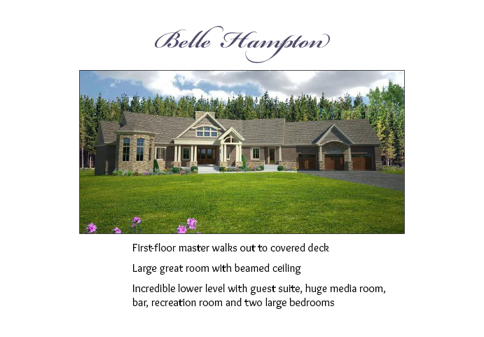 Clayton Douglas Belle Hampton Floor Plans 1