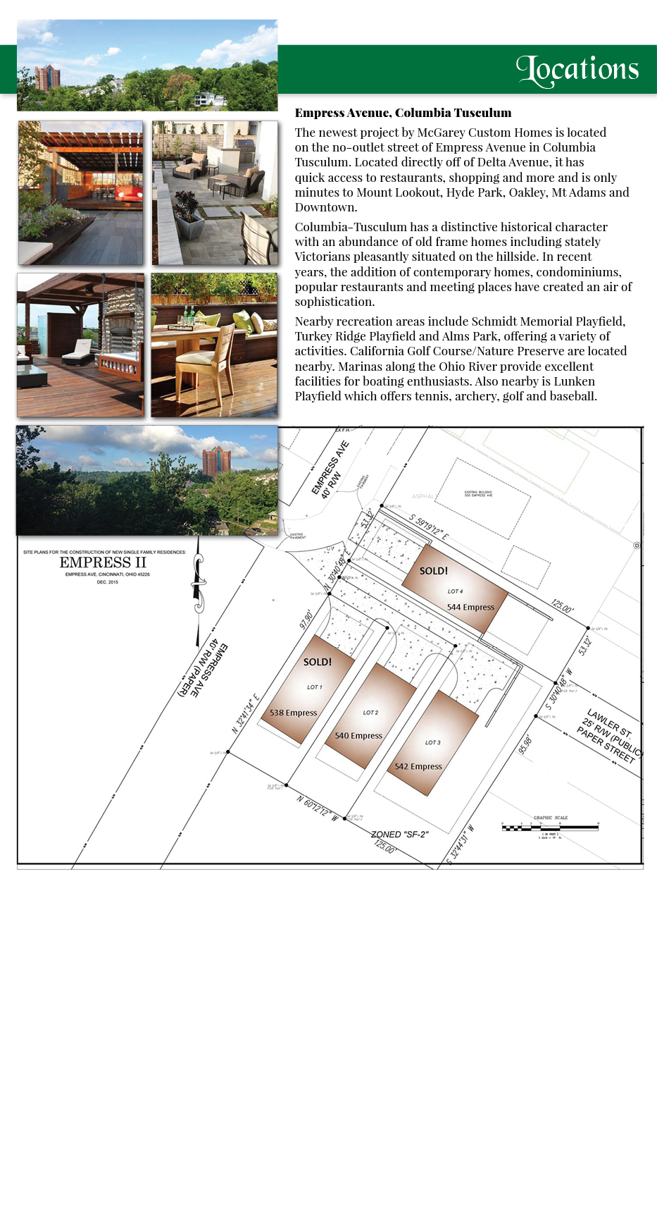 McGarey Custom Homes location renderings