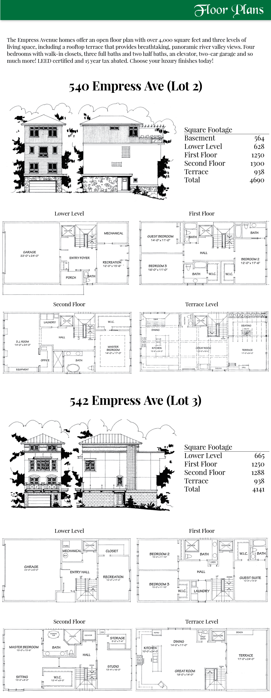 McGarey Custom Homes floorplans renderings