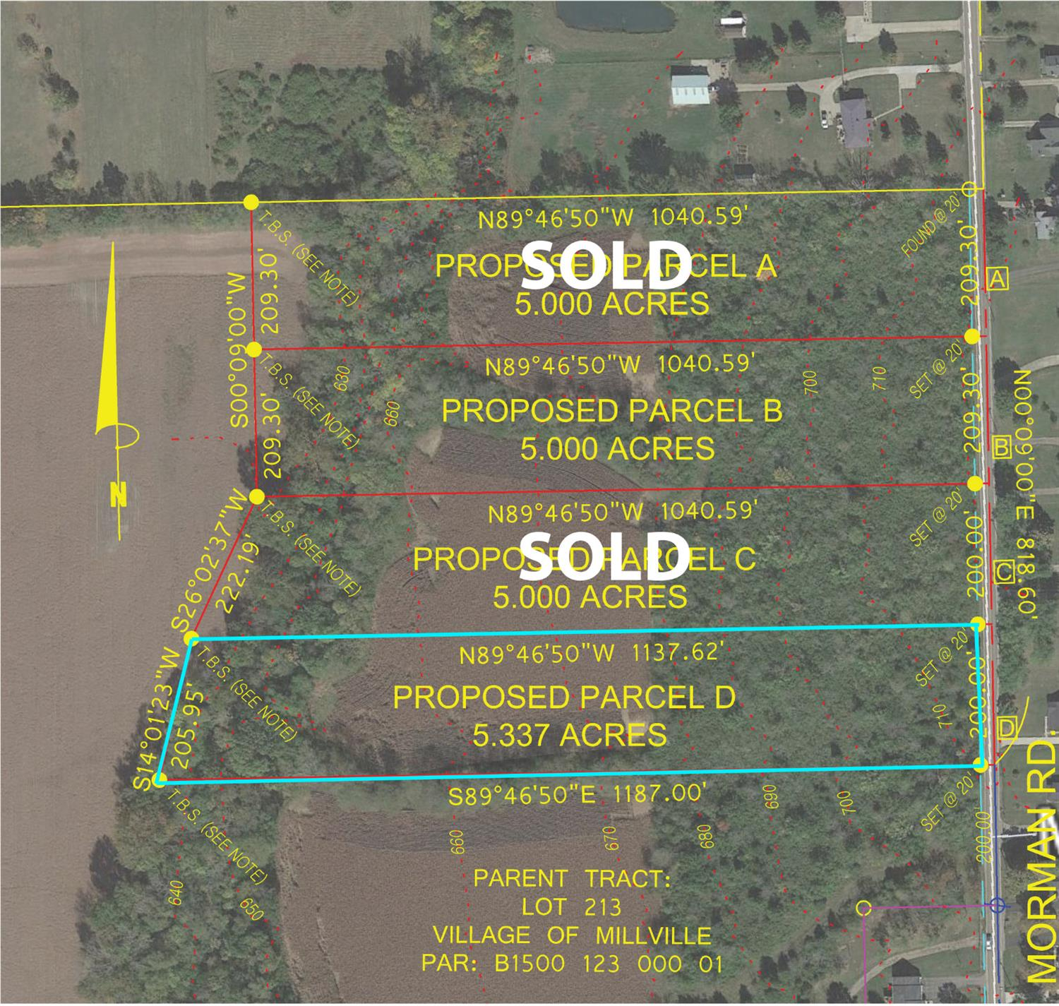 5.000ac Morman Rd, Lot D Hanover Twp., OH