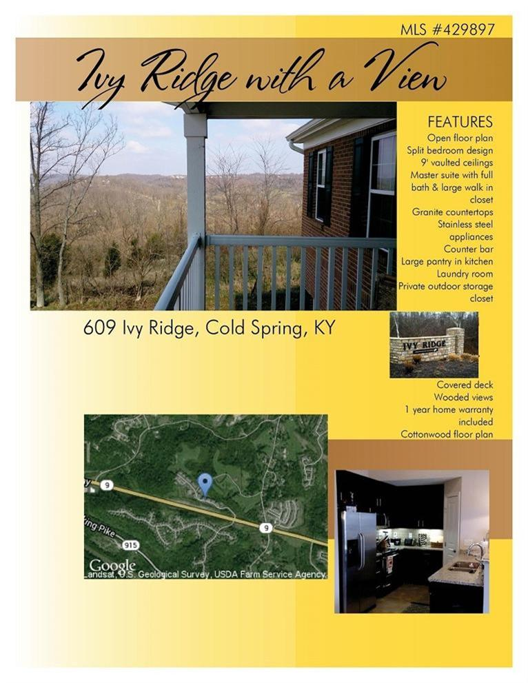 real estate photo 1 for 609 Ivy Ridge Dr Cold Spring, KY 41076
