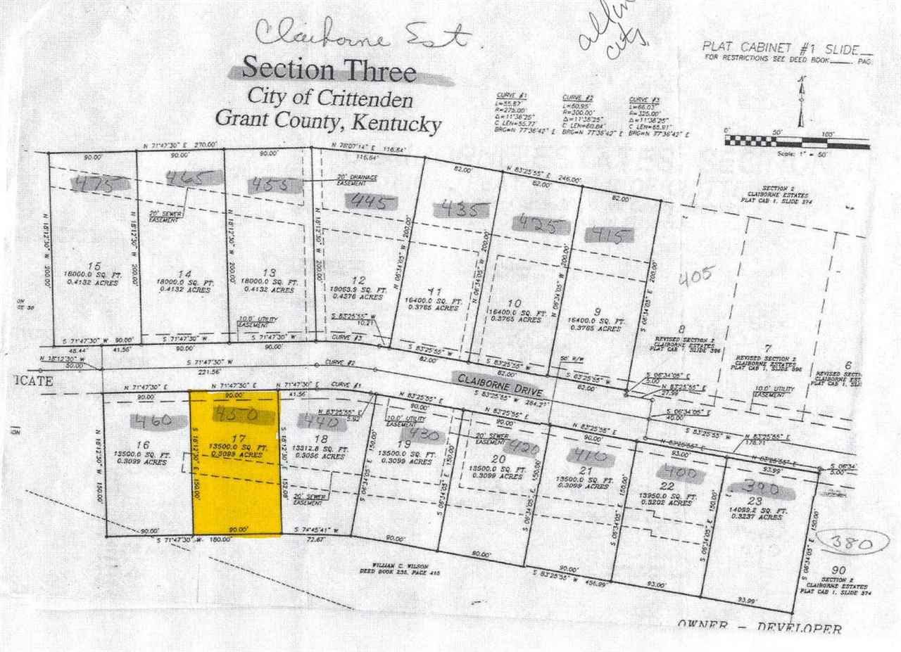 Photo 1 for 450 - Lot 17 Claiborne Dr Crittenden, KY 41035