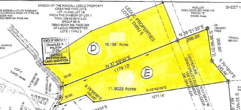 Lot D Whitton Road Petersburg, KY