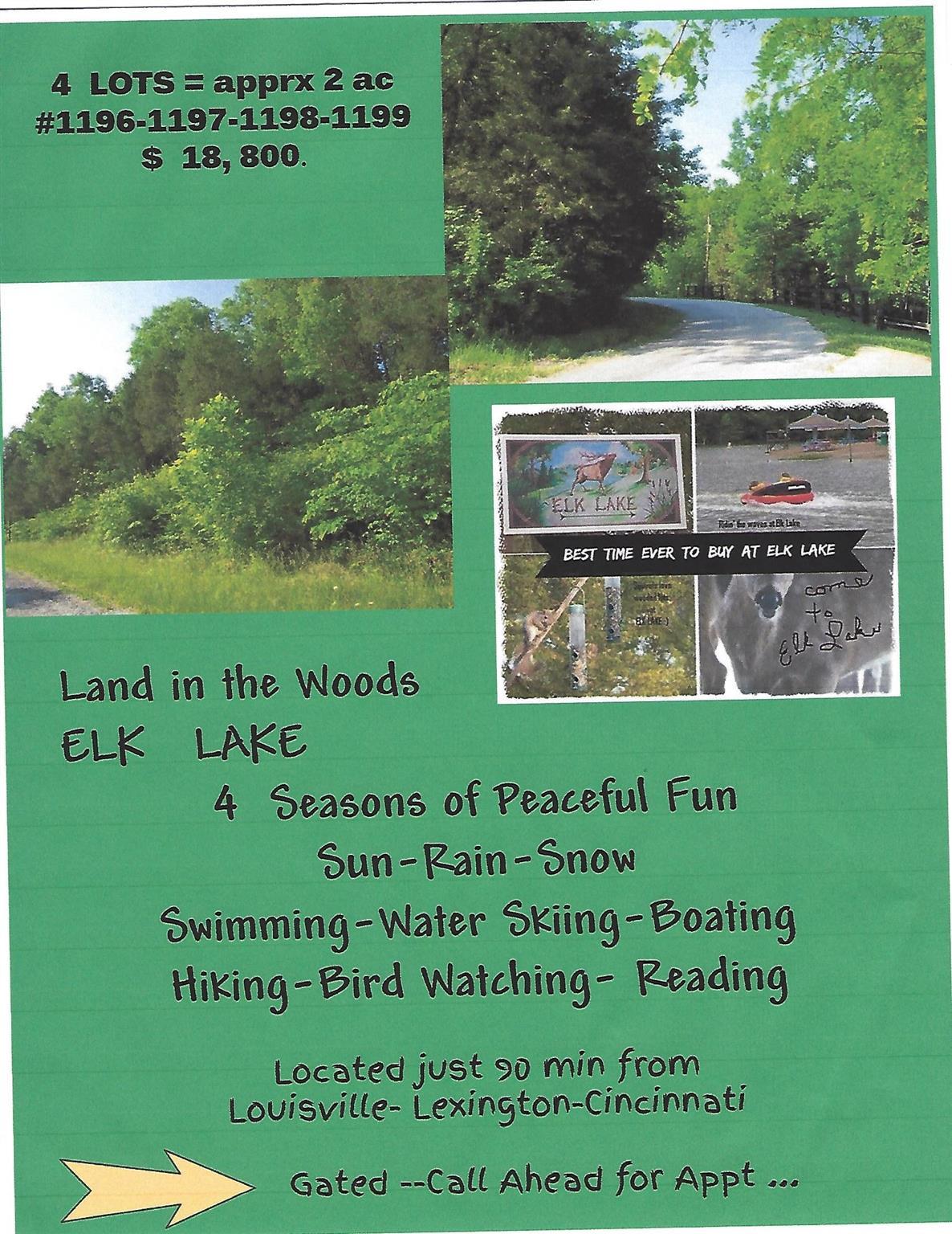 1196 --- 1199 East Lakeshore Dr Owenton, KY
